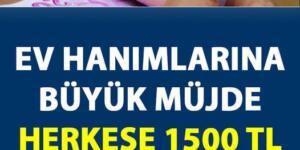 Ev Hanımlarına 1500 TL Piyangosu
