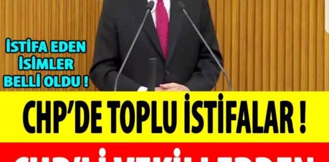 CHP'de 3 milletvekili istifa etti..