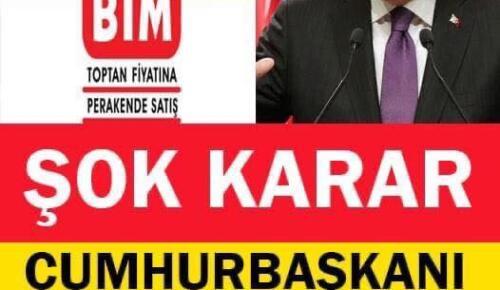 Market zincirleri için karar. Erdoğan talimatı verdi !